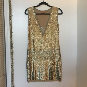 Tory Burch ombré sequin dress